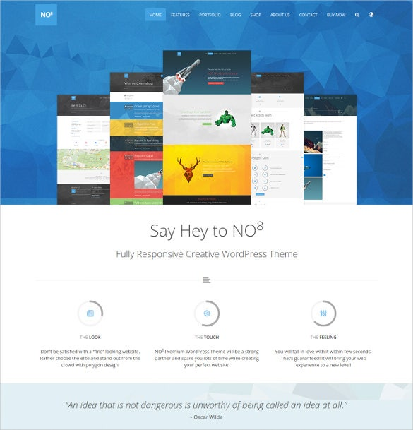 no8 html creative agency portfolio html5 theme