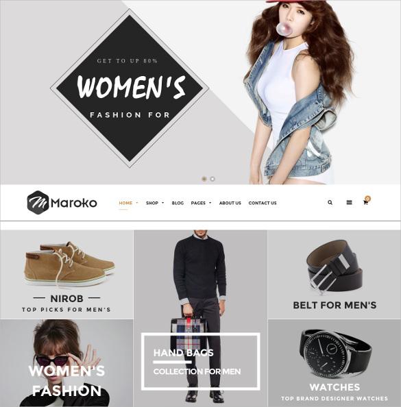 maroko responsive shopify html5 theme
