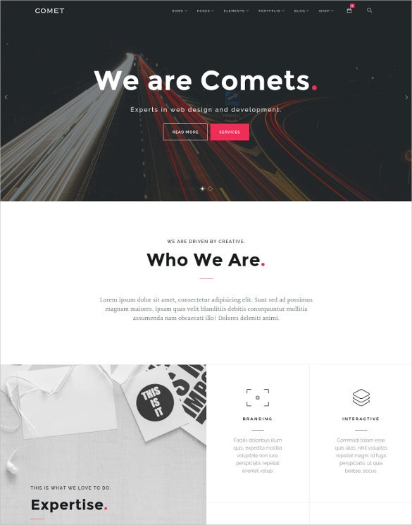 comet creative multi purpose drupal html5 theme