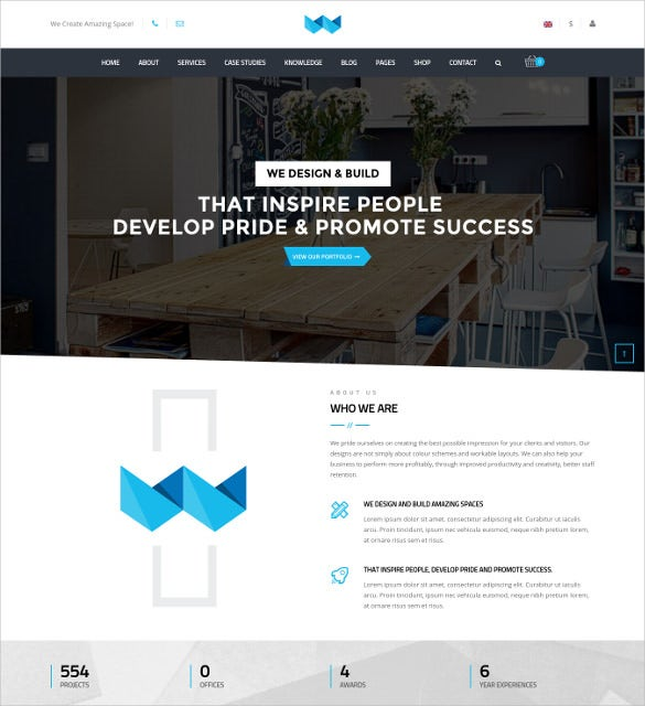 workspace versatile office html5 wordpress template
