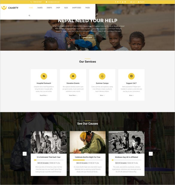 charity nonprofit joomla html5 template