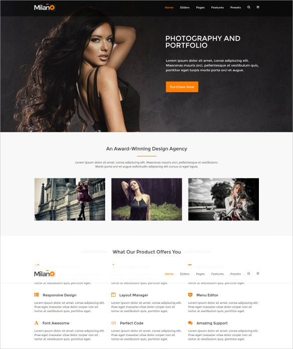it milano gantry 5 photography portfolio joomla html5 template