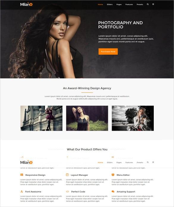 it milano gantry 5 photography portfolio joomla html5 template