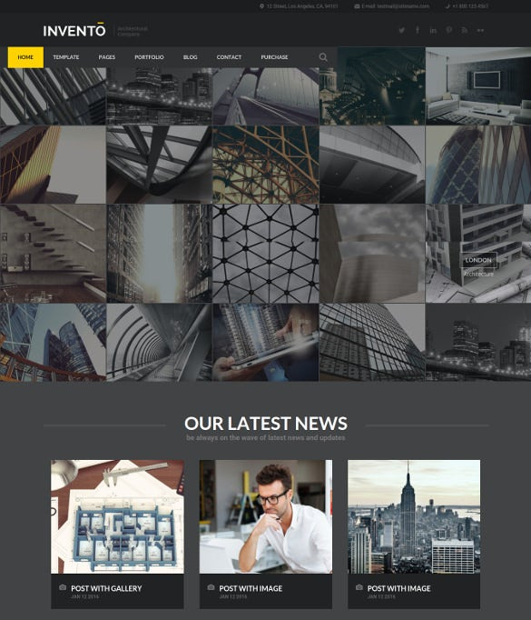 architecture building agency joomla html5 template