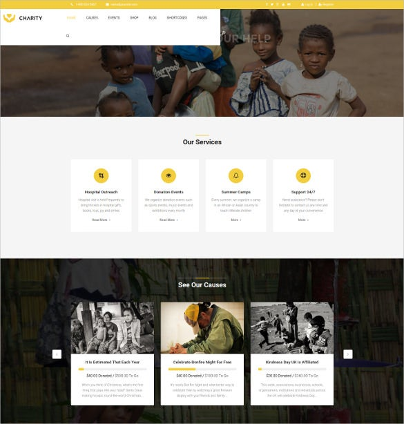 charity nonprofit joomla template