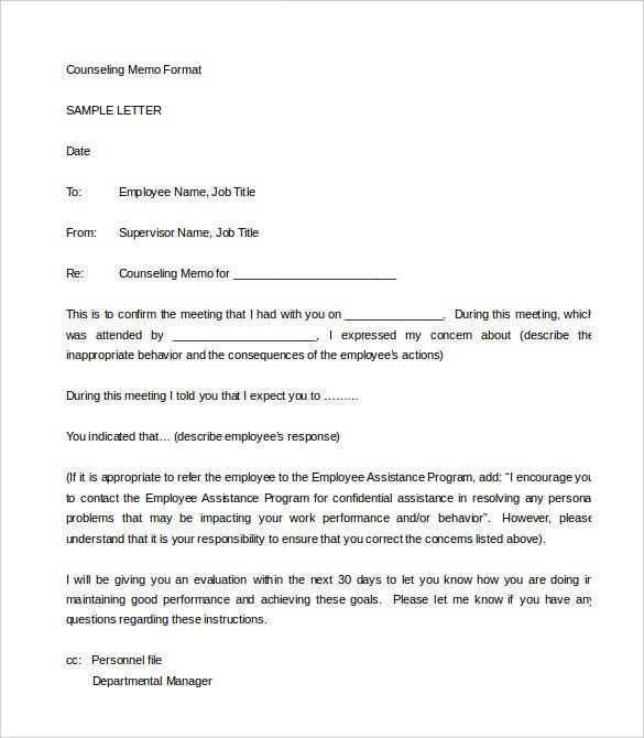 Sample of a warning letter for negligence of duty format for Hr memo template