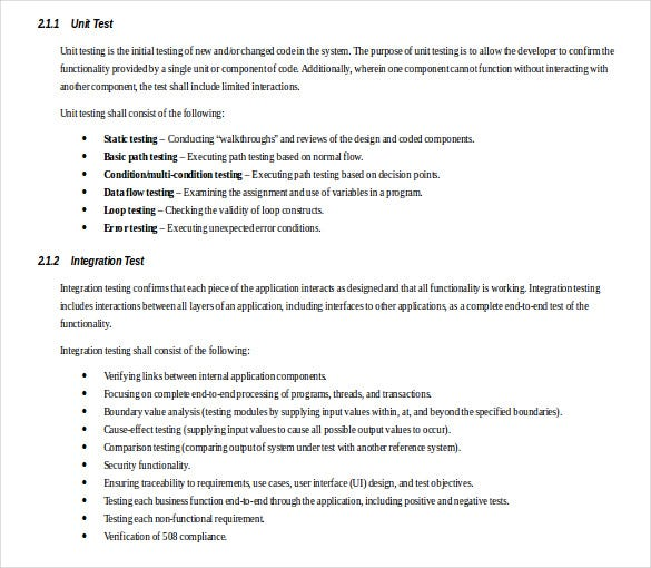 13 test strategy templates free sample example format With sample test strategy document template