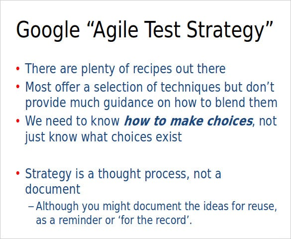 Agile-Test-Strategy-Template1 Test Plan Format Examples on sql format examples, thesis statement format examples, business rules format examples, status report format examples, business case format examples,