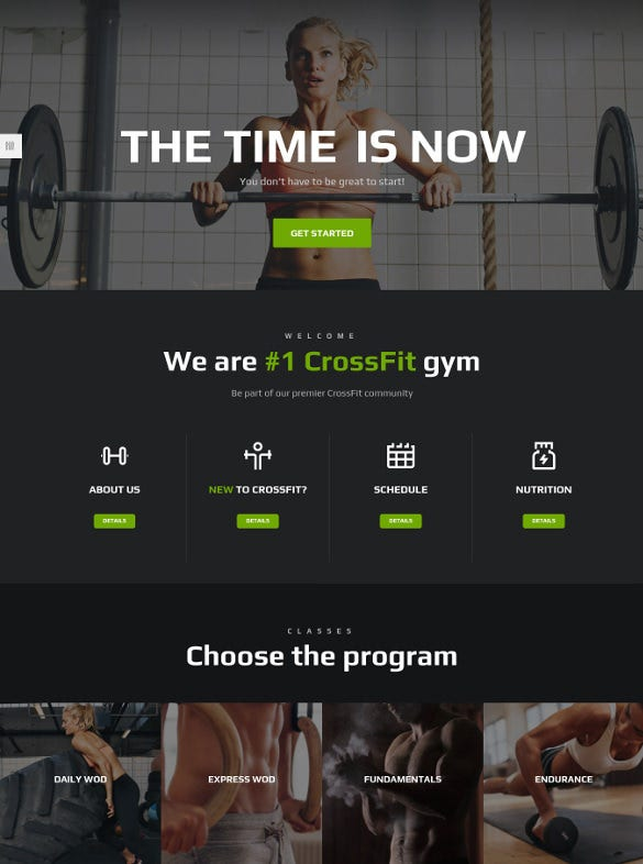 ironfit fitness gym and crossfit wordpress theme