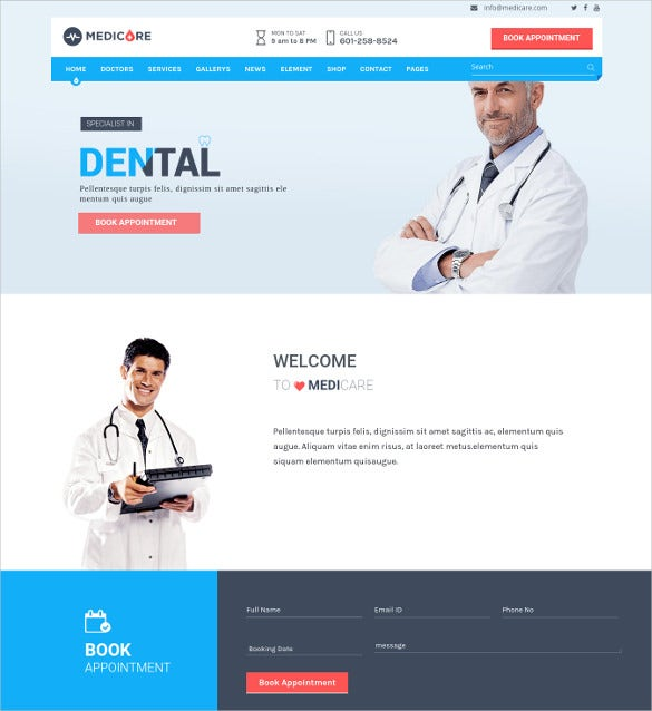 medicare medical health wordpress theme