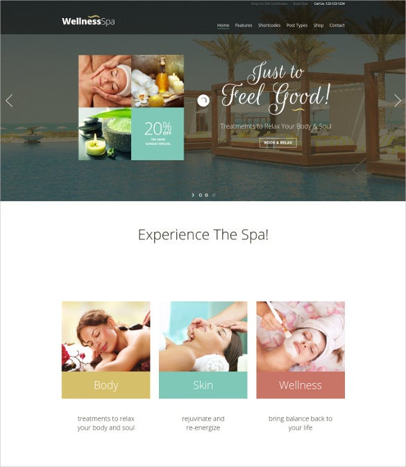 wellness spa resort spa beauty salon wordpress theme