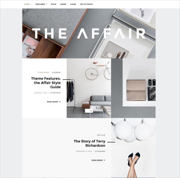 the affair creative wordpress theme for personal blogs magazines