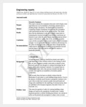 engineering weekly report template