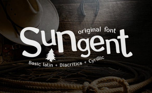 Saturday (5th March) Font - Sungent