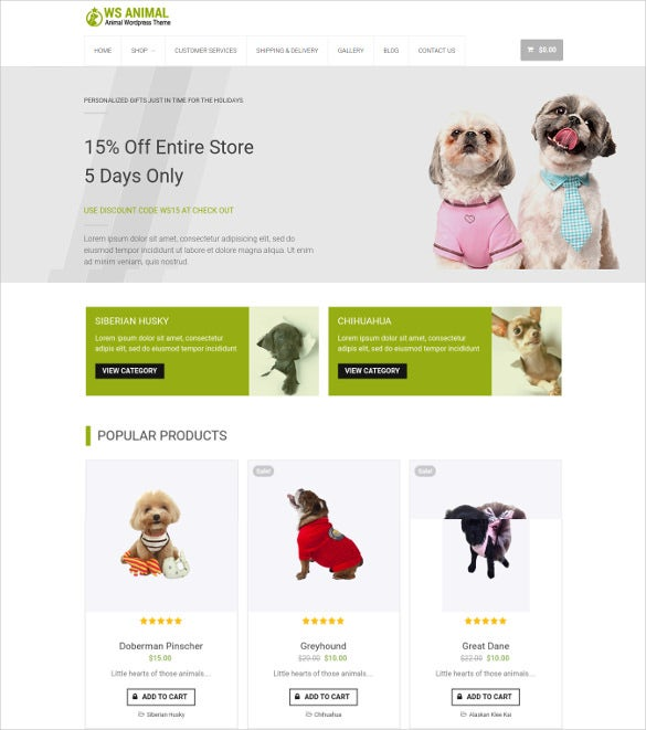 ws animal wordpress theme