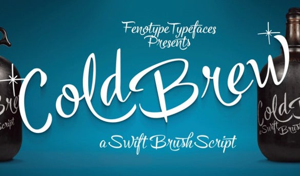 Tuesday (March 8th) Font - Cold Brew