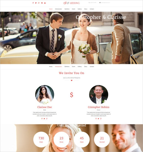 lt wedding onepage wordpress theme