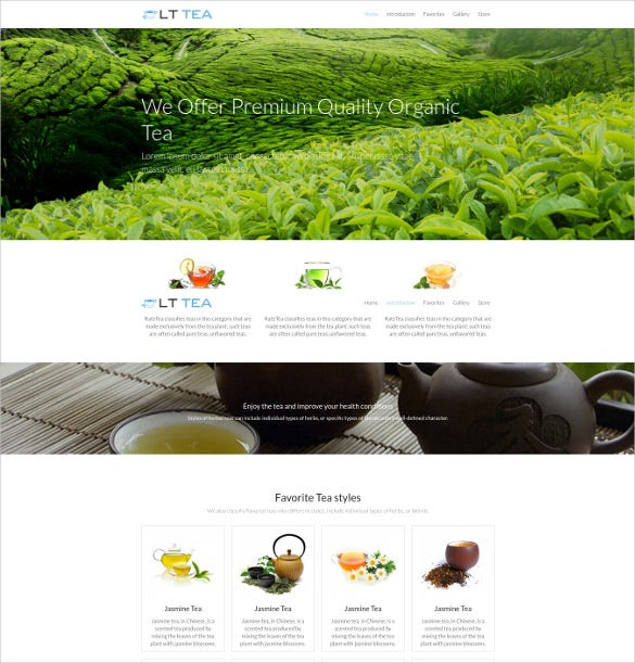 lt tea onepage wordpress theme