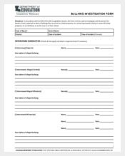 bullying investigation report template