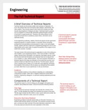 Engineering: The Full Technical Report
