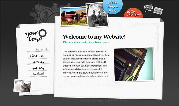 personal jquery xhtml portfolio php theme
