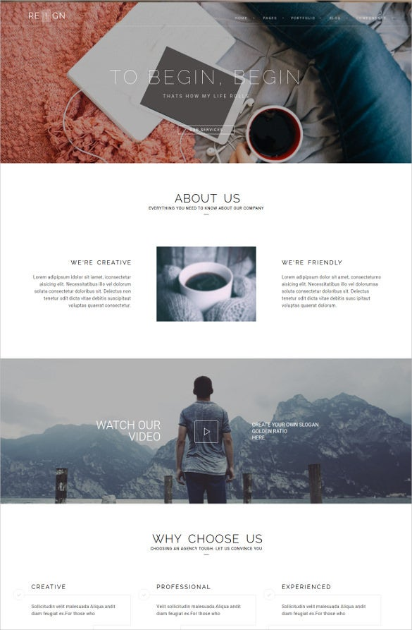 personal agency php template