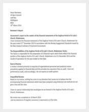 Church Treasurer Report PDF Template Free Download