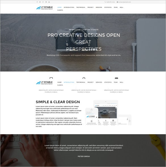 lt stable onepage wordpress theme
