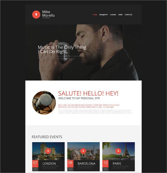 singer moto cms html music template