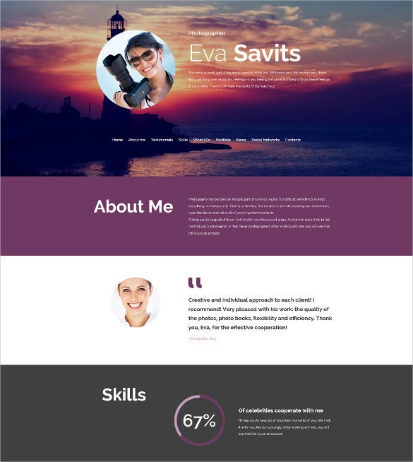 web template for photographer