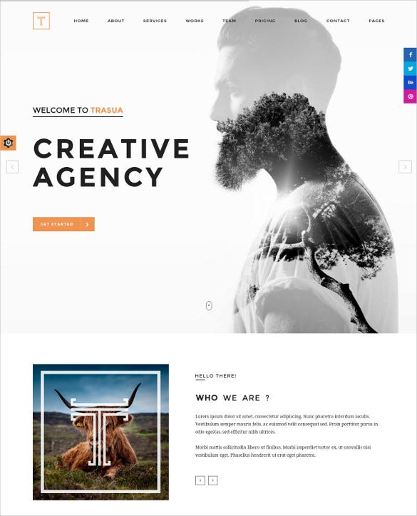 creative photographer agency html5 template