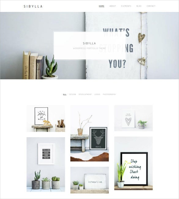 sibylla wordpress portfolio website theme