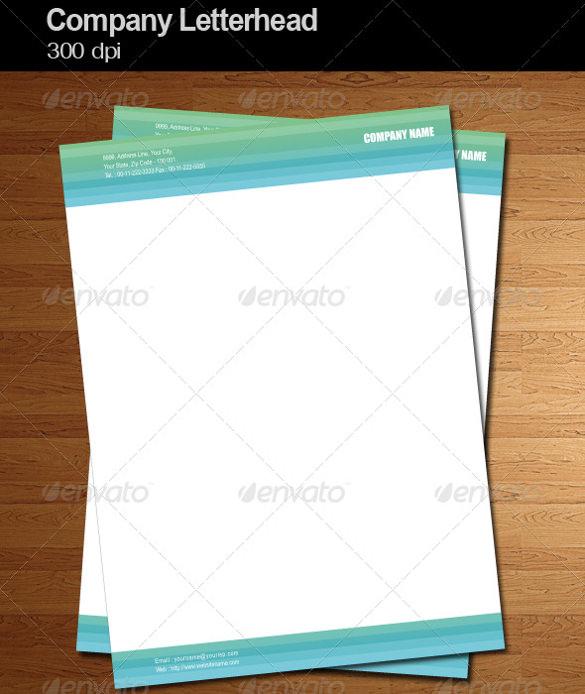 company letterhead ai illustrator format download