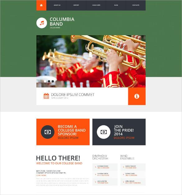 28 band website themes templates free premium templates. Black Bedroom Furniture Sets. Home Design Ideas