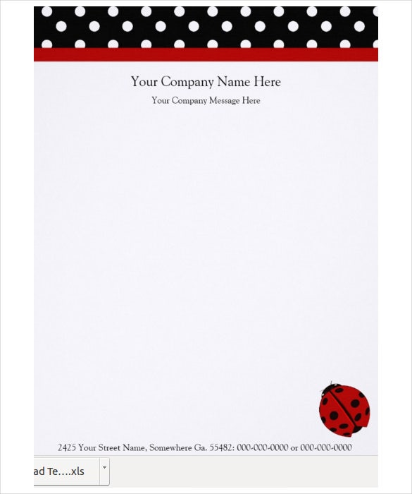 ladybug company letterhead template download