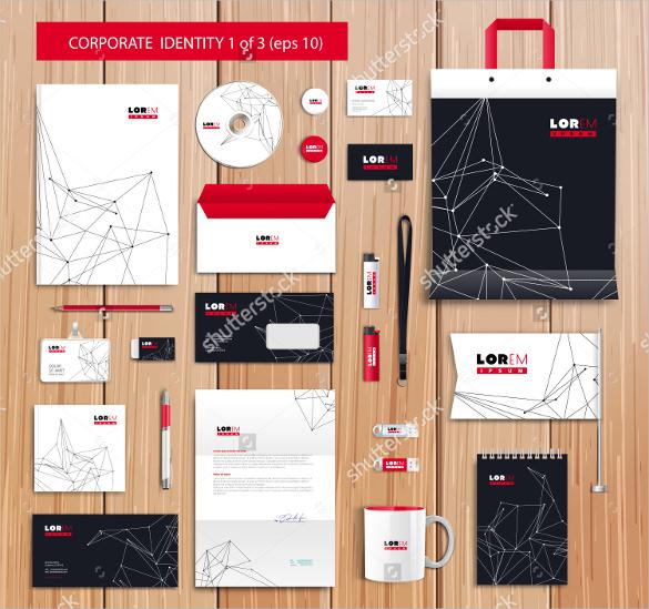 white corporate letterhead template design