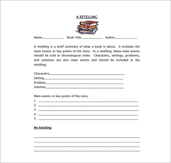 book report free template