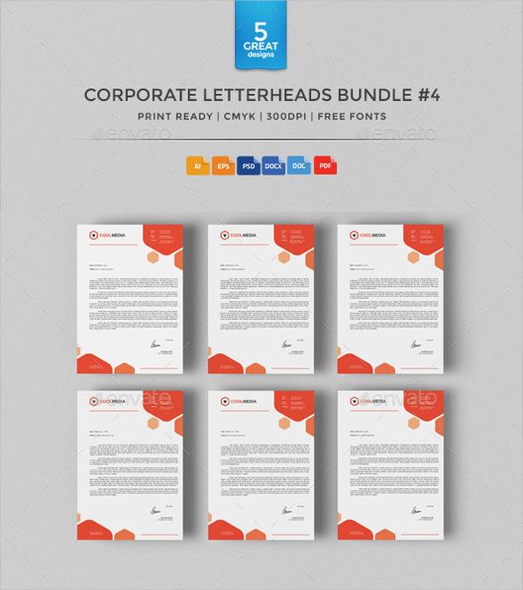 corporate letterheads bundle download