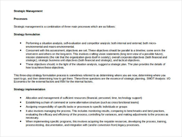 strategic management template1