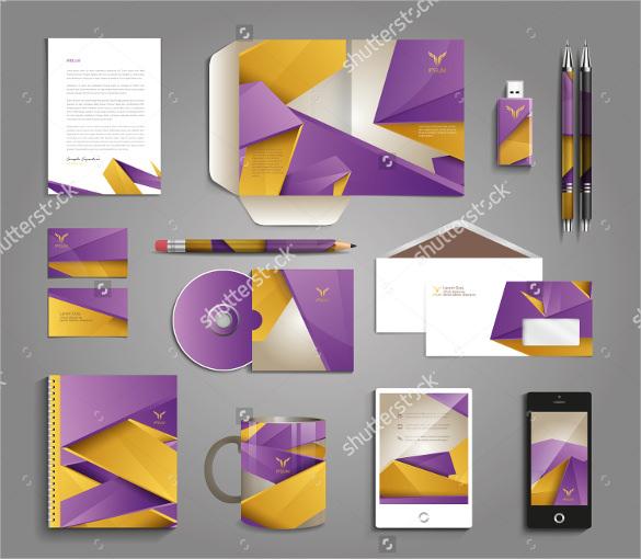 vector graphic professional identity for company letterhead