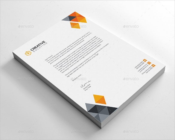 business letterhead vector eps download