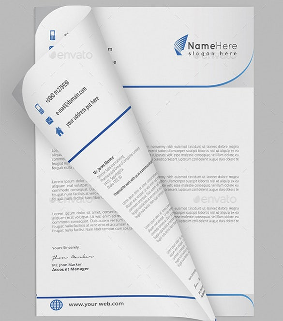 business letterhead for business purpose