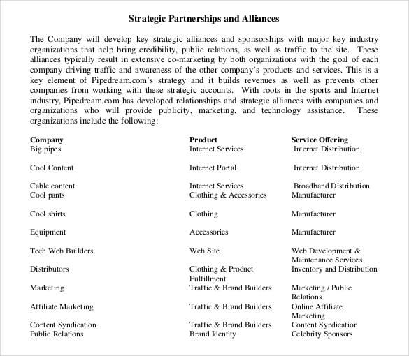 sample business strategic plan pdf format free template