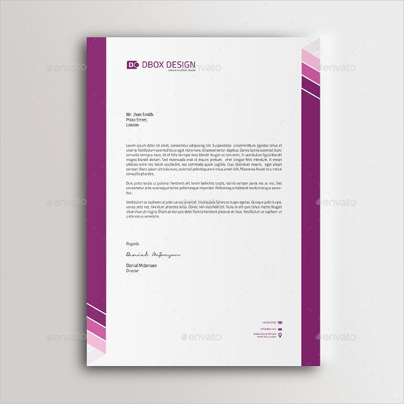 business letterhead instant download