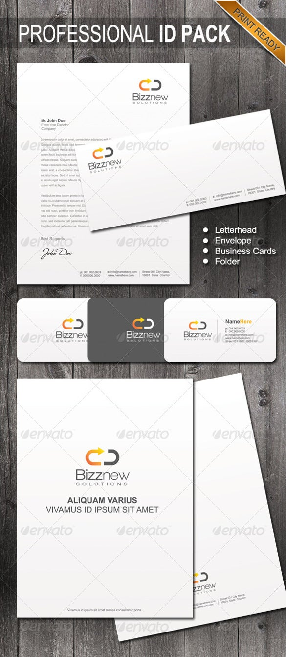 professional identity letterhead template download
