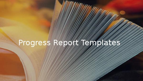progress report templates1