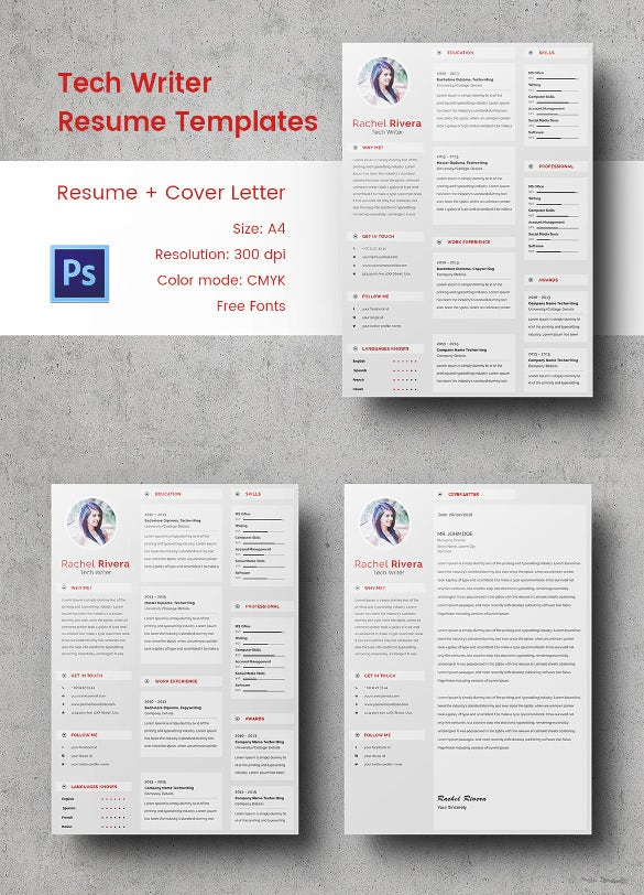 Writer Resume Template   Free Word Excel Pdf Format Download