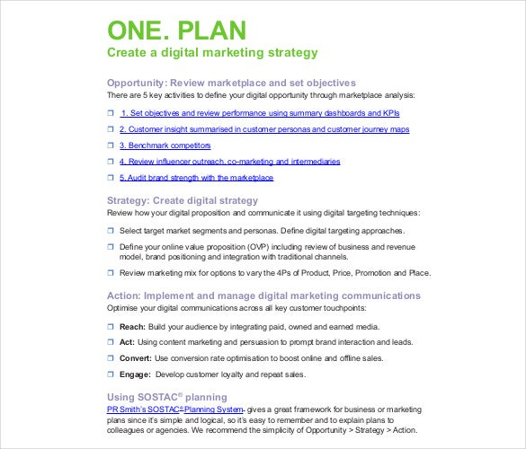 marketing strategy examples pdf 17  Digital Marketing Strategy Templates – Free Sample, Example ...