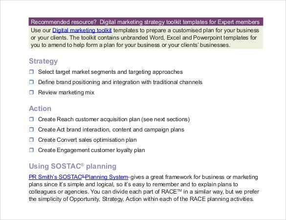 17+ Digital Marketing Strategy Templates - Free Sample