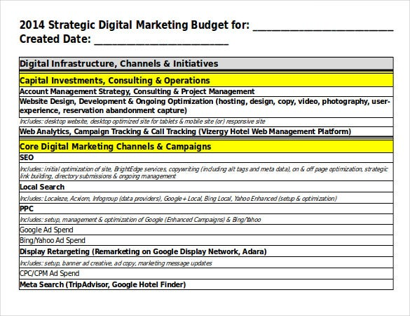 Digital Marketing Strategy Templates  Free Sample Example